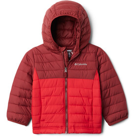Columbia Powder Lite Chaqueta Capucha Niños, mountain red/red jasper